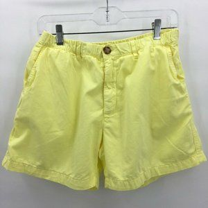 Chubbies Mens Shorts Yellow Front Pockets Cotton L